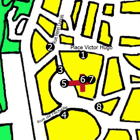 """Carte du circuit """"Autour de la cathédrale"""""""